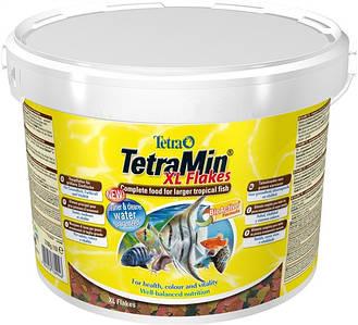 Корм для аквариумных рыб Tetra MIN XL FLAKES 10 L/ 2,1кг большие хлопья
