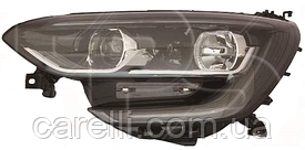 Фара левая электро черная Н7+Н7+LED для Renault Megane 2016-