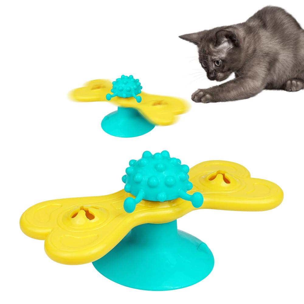 Игрушка для кота Мельница с присоской 16х8 см