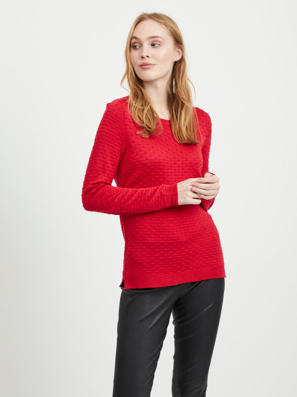 Джемпер Vila 14044509 L Красный