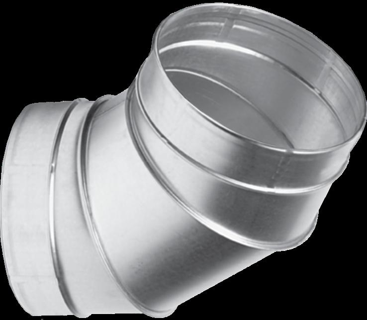 Отвод для вентиляционных каналов  60-315