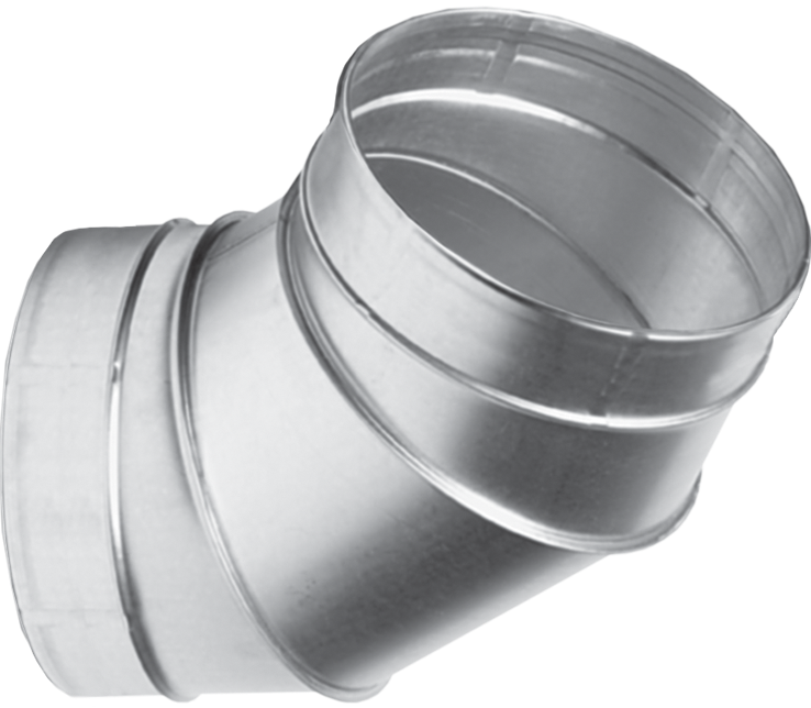 Отвод для вентиляционных каналов  60-500