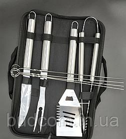 Набор инструментов для барбекю из нержавеющей стали в чехле (8 пр./наб.) Dynasty DYN-12006