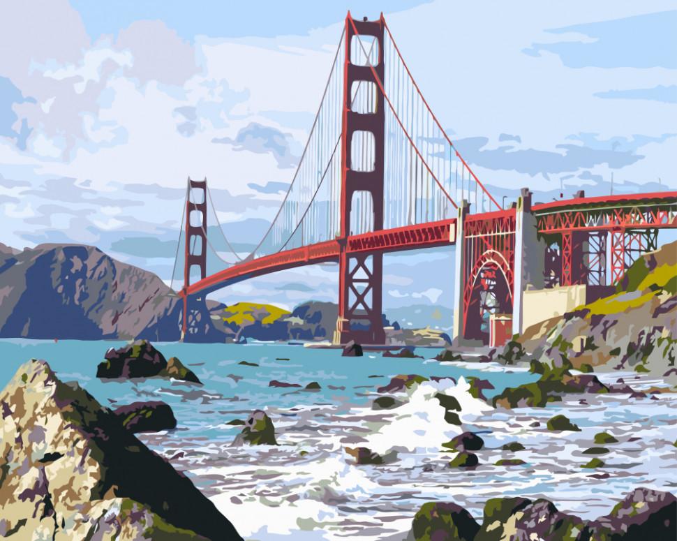 """Картина по номерам. Brushme """"Мост Сан Франциско"""" GX7979"""