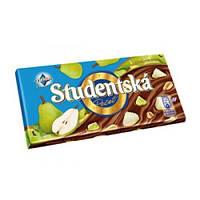 Шоколад молочный ORION Studentska Pecet с арахисом и грушей