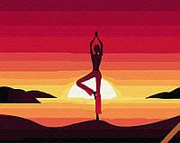 """Картина по номерам. Brushme """"Медитация на закате"""" GX34820"""