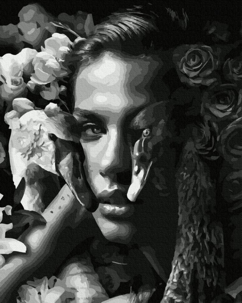 "Картина по номерам. Brushme ""Женщина с лебедями"" GX35638"