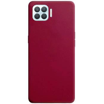 Силиконовый чехол Candy для Oppo A93 Бордовый