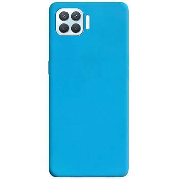 Силиконовый чехол Candy для Oppo A93 Голубой
