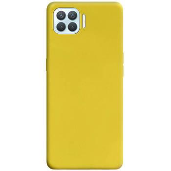Силиконовый чехол Candy для Oppo A93 Желтый