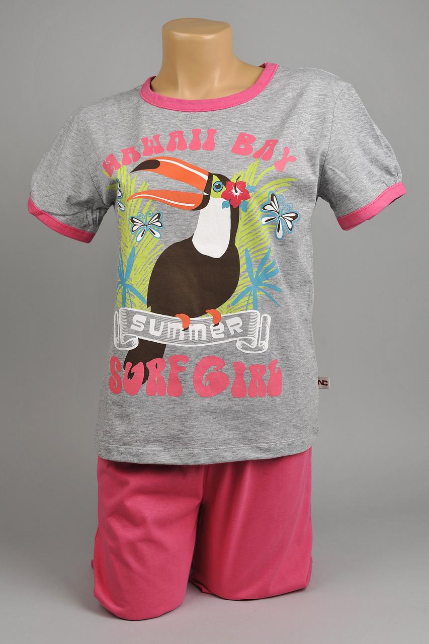 Пижама для девочки Natural Club 1034 104 см Розовый