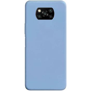 Силиконовый чехол Candy для Xiaomi Poco X3 NFC Голубой / Lilac Blue