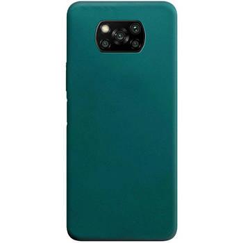 Силиконовый чехол Candy для Xiaomi Poco X3 NFC Зеленый / Forest green