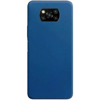 Силиконовый чехол Candy для Xiaomi Poco X3 NFC Синий
