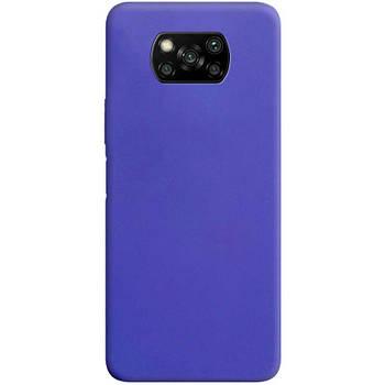 Силиконовый чехол Candy для Xiaomi Poco X3 NFC Сиреневый