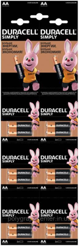 Батарейка Duracell Basic AA/LR06 BL 12шт(2штх6) отрывной
