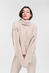 Женский укороченный свитер в стиле oversize (Бежевый)