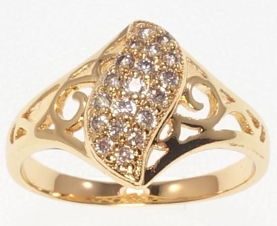 """Кольцо M&L """"Лепесток с кристаллами"""" р. 15.5,16"""