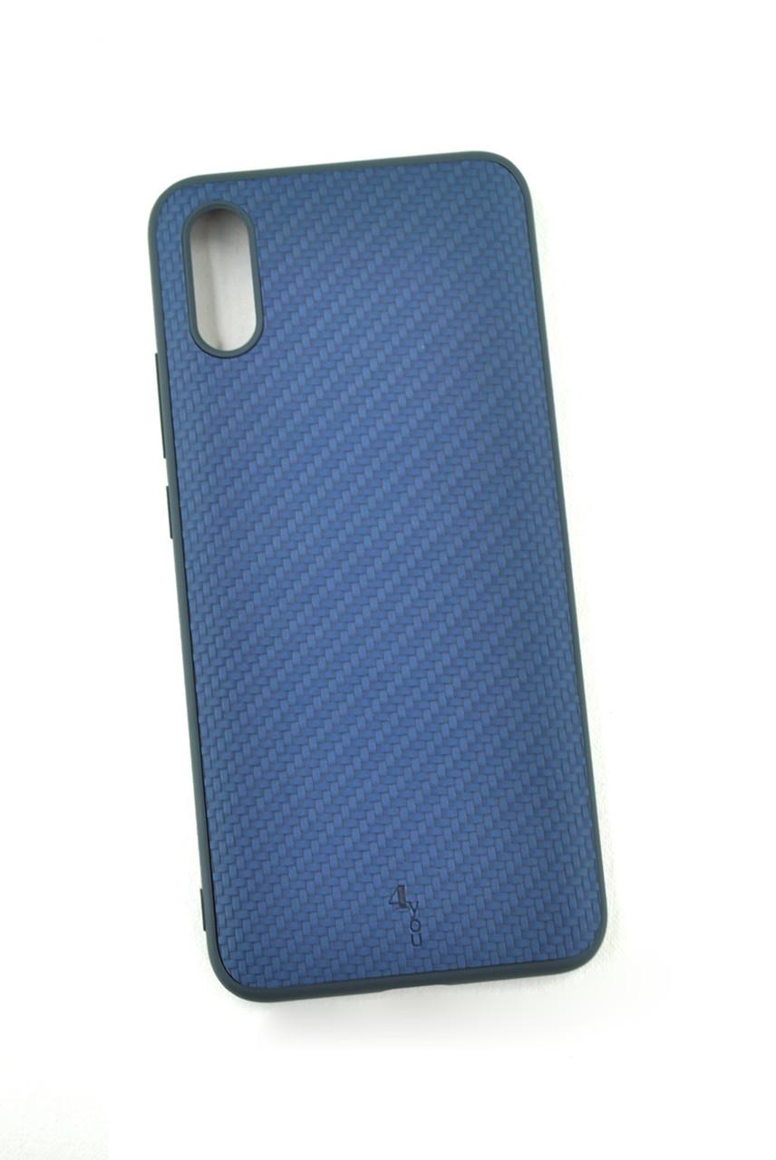 Чехол Xiaomi Redmi 9 Silicon Series Carbon Dark blue (4you)