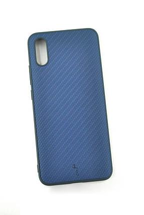 Чехол Xiaomi Redmi 9 Silicon Series Carbon Dark blue (4you), фото 2