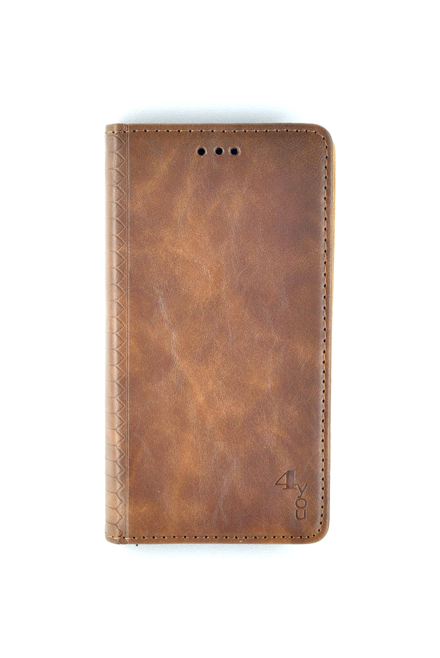 Чехол-книжка Flip Cover for Huawei P40 Lite / Nova 7SE WALL Dark brown (4you)