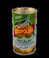 "Оливки ""Coopoliva"" зеленые без косточки 370 г"