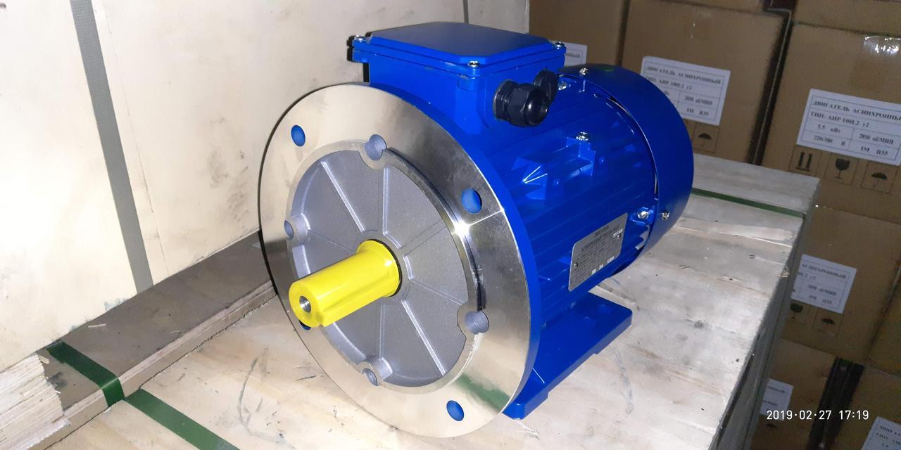 Электродвигатели АИР100L2 5.5 кВт 3000 об/мин 220/380в 2081 фланец - лапа ( В35 )
