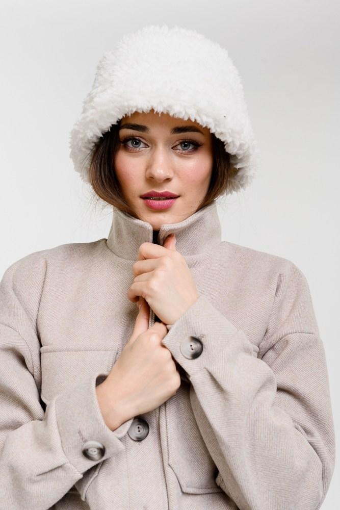 Женская зимняя меховая панама
