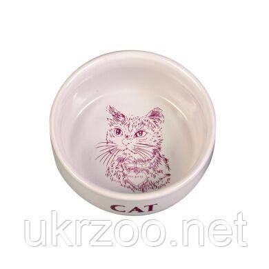 Миска керамическая Trixie 300 мл / 11 см (кремовая)