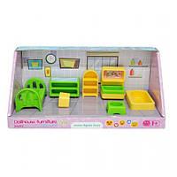 Уценка. Набор мебели для кукол (спальня) 7 деталей - нет тумбы 39697
