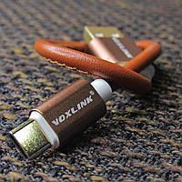 Type-C кабель Voxlink під кожу 20см Brown, фото 1