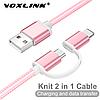 MicroUsb кабель VOXLINK 2 в 1 Pink