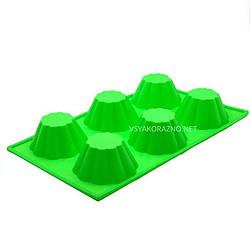 Силиконовая форма для выпечки в духовке (Кекс) зеленый