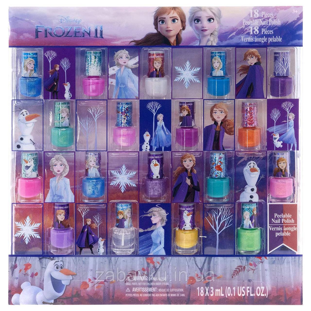 Набор детских лаков для ногтей Дисней Фрозен Disney TownleyGirl Frozen косметика для девочки