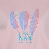 Кофта женская короткая розовая, демисезонный стильный свитшот Tribal, фото 3