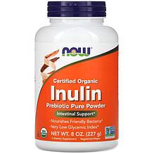 """Інулін в порошку NOW Foods """"Inulin Prebiotic Pure Powder"""" пребіотик для травлення (227 г)"""
