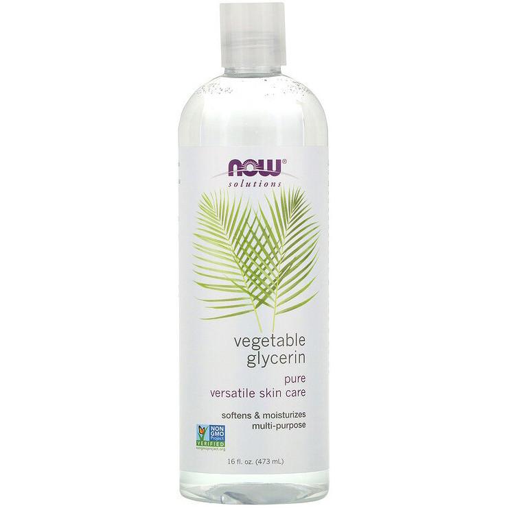 """Растительный глицерин NOW Foods, Solutions """"Vegetable Glycerine"""" для увлажнения и смягчения кожи (473 мл)"""