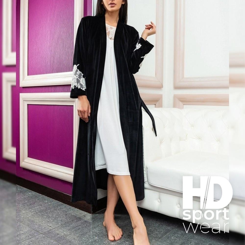 Женские велюровые халаты