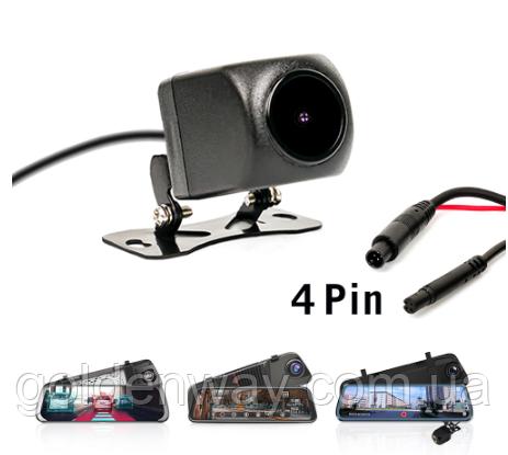 Камера заднего вида с кабелем для зеркала 10 дюймов (Junsun и др) Штекер 2,5мм, 4 контакта 4 pin