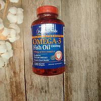 Puritan's Pride Omega-3 Fish Oil 120 caps 950 mg active omega , омега 3 рыбий жир, фото 1