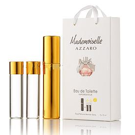 Мини-парфюм с феромонами женский Azzaro Mademoiselle 3х15 мл
