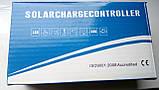 30А 12/24В Контролер заряду для солнячних батарей (модулів) ШИМ (PWM) с Дисплеєм + 2USB, фото 5
