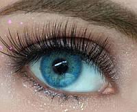 Цветные линзы для коррекции зрения. Цветные линзы с диоптриями, красивые синие линзы с диоптриями.