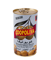"""Оливки """"Coopoliva"""" зеленые с косточкой 350 г"""