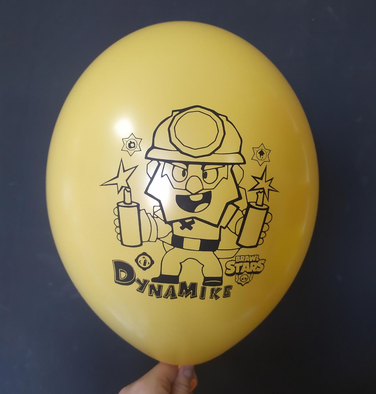 "Латексна кулька з малюнком Вrаwl stаrs Dynamike ocher 015 12"" 30см Belbal ТМ ""Star"""
