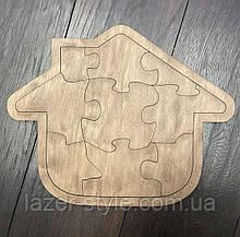 Пазлы деревянные  Домик