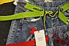 Джинсы МОМ с ярким ремнем  Женские стильные джинсы с потертостями Размер 25 - 30 (Голуой джинс, Красный пояс), фото 6