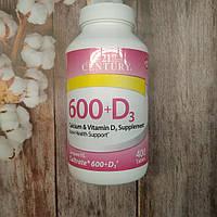 21st Century Calcium 600 + D3 400 tab , кальций витамин Д 3, фото 1