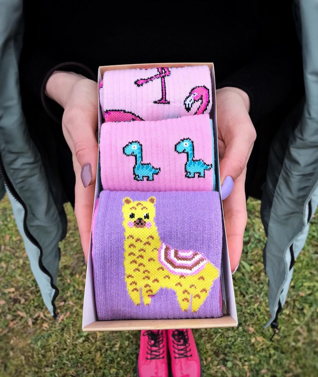 Набор стильных носков мужские женские, подарочный набор коробка, шкарпетки подарунковий набір