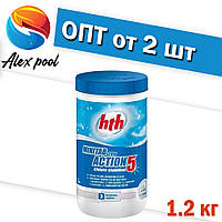 Hth MINITAB 20g Action 5 хлор - Медленно растворимые таблетки 20 гр 5в1 , 1.2 кг